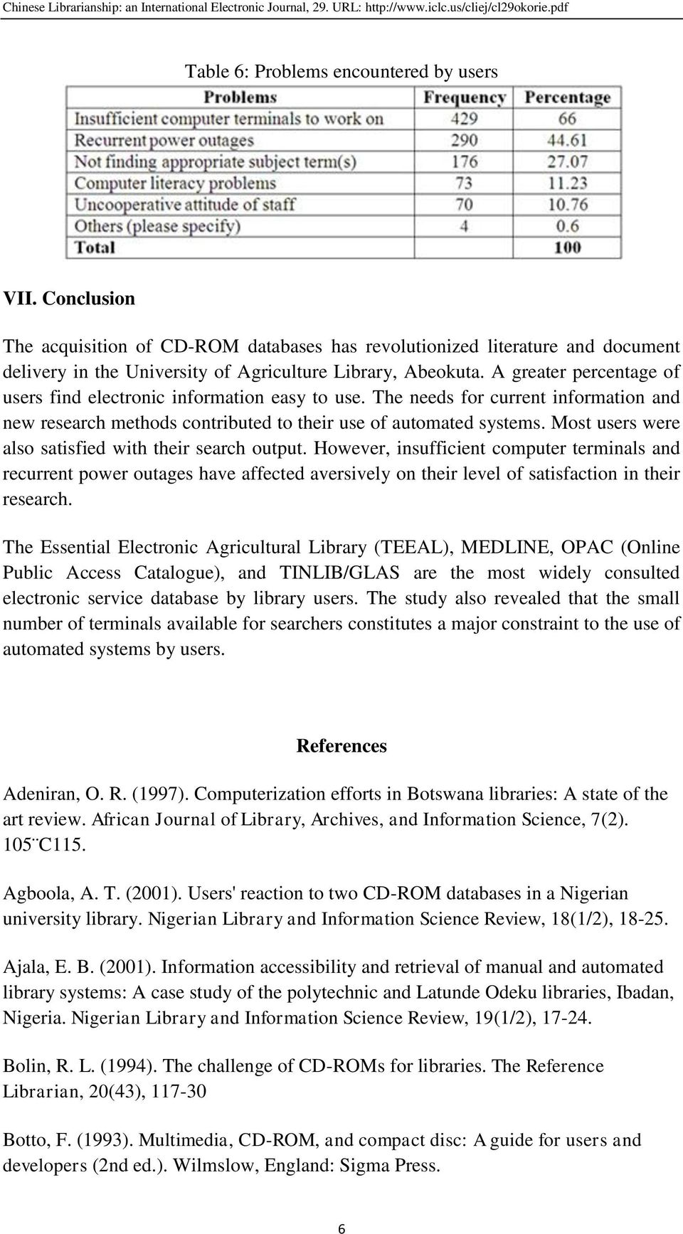 Utilization of Automated Electronic Information Services: A
