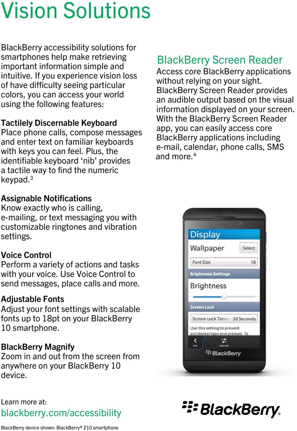 BlackBerry 10 Accessibility Solutions for People with Disabilities - PDF