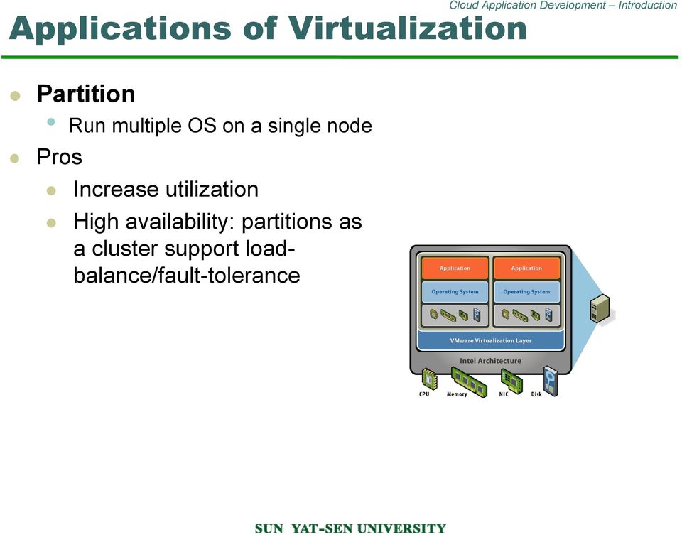 utilization High availability: partitions as