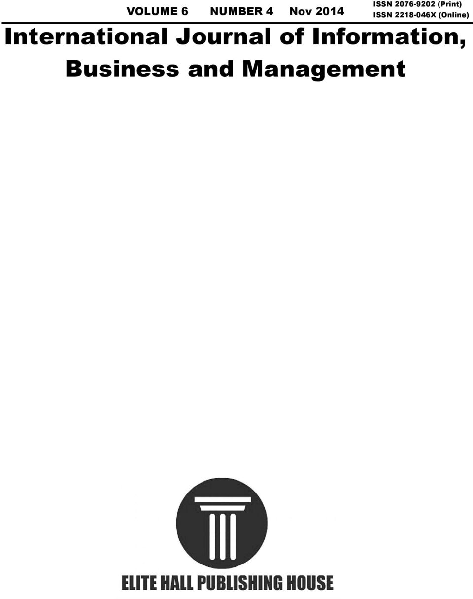International Journal Of Information Business And