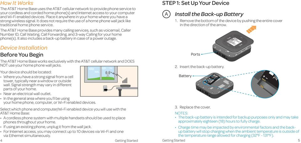 User Guide AT&T Wireless Home Phone and Internet  AT&T Home