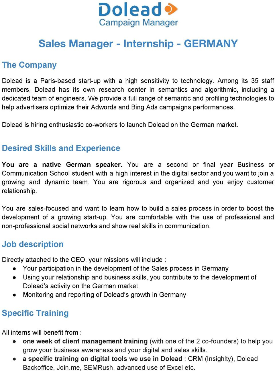 Account Manager H/F - CDI - France - PDF