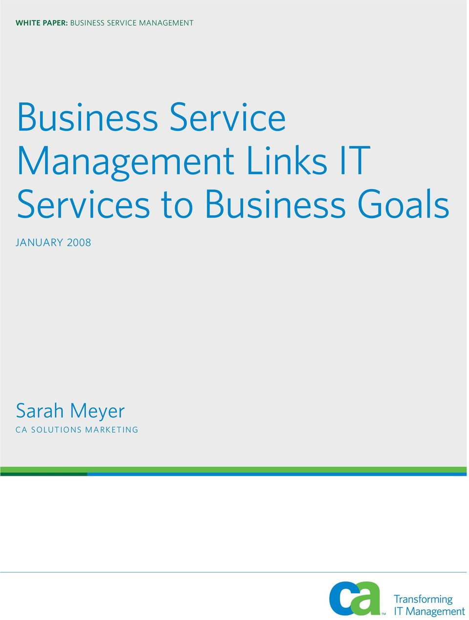 Management Links IT Services to