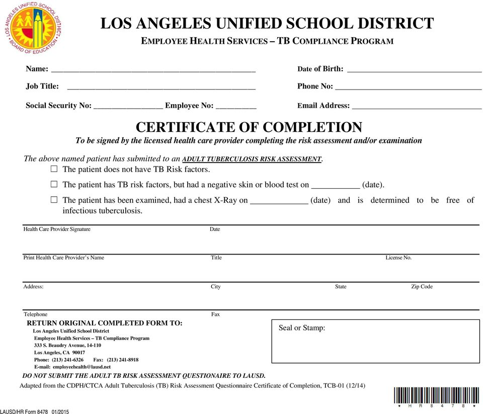 Los Angeles Unified School District Human Resources Division