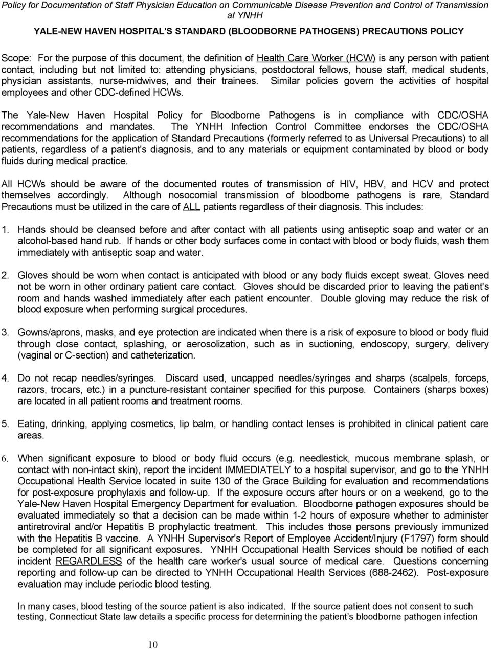 Yale-New Haven Hospital Application for Physician Guests - PDF