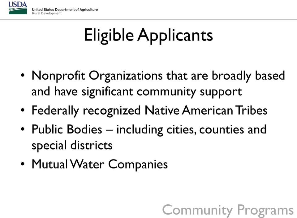 recognized Native American Tribes Public Bodies including