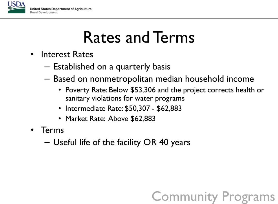 corrects health or sanitary violations for water programs Intermediate Rate: $50,307