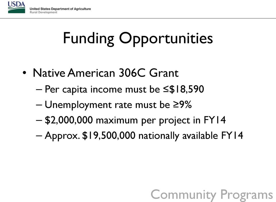 be 9% $2,000,000 maximum per project in FY14 Approx.