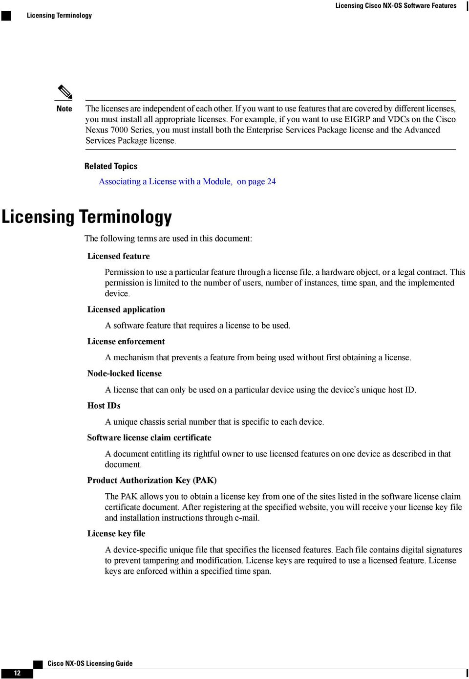 Licensing Cisco NX-OS Software Features - PDF
