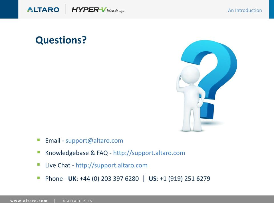 com Live Chat - http://support.altaro.