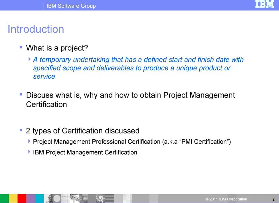Project Management Certification Overview Pdf