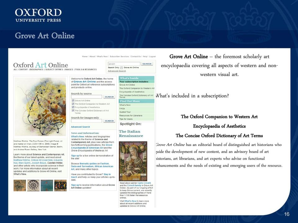 Oxford University Press Online Resources  Tracy James Library Sales