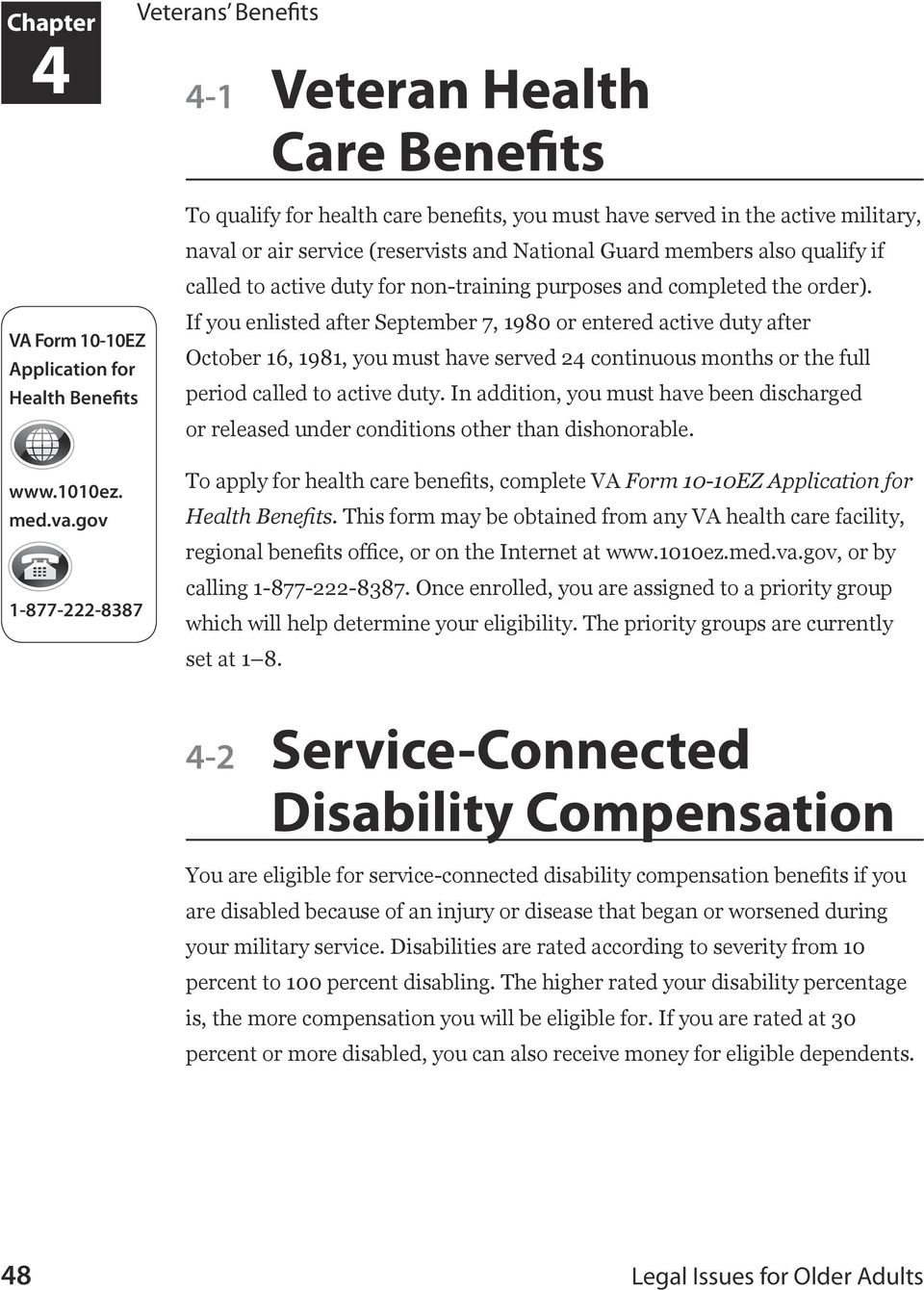Veterans Benefits  Chapter  In This Chapter - PDF