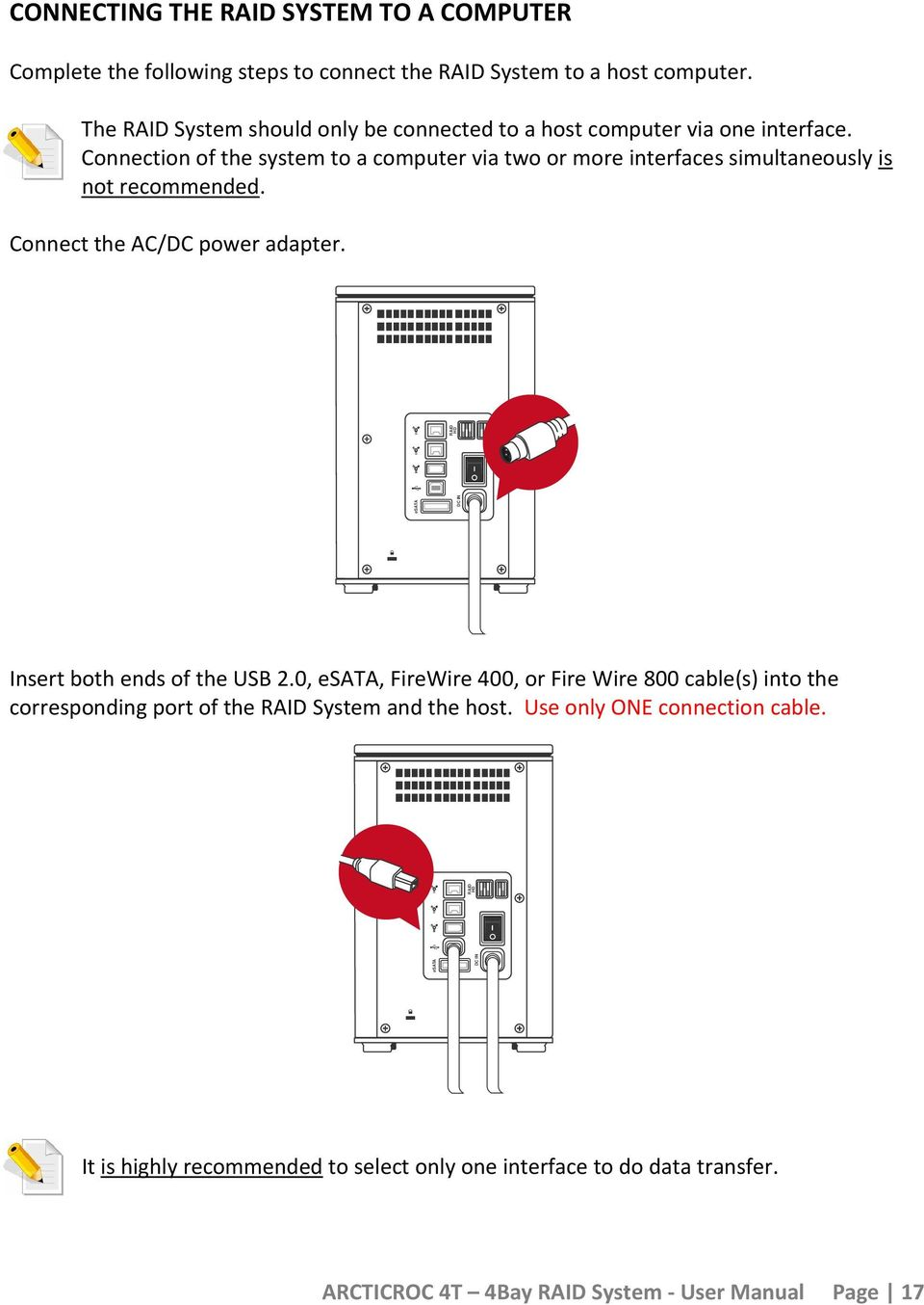Arcticroc 4t User Manual Pdf Firewire Wire Diagram Connection Of The System To A Computer Via Two Or More Interfaces Simultaneously Is Not Recommended