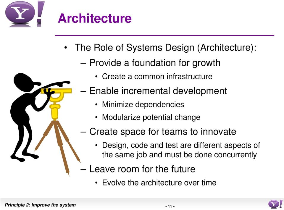 space for teams to innovate Design, code and test are different aspects of the same job and must be done