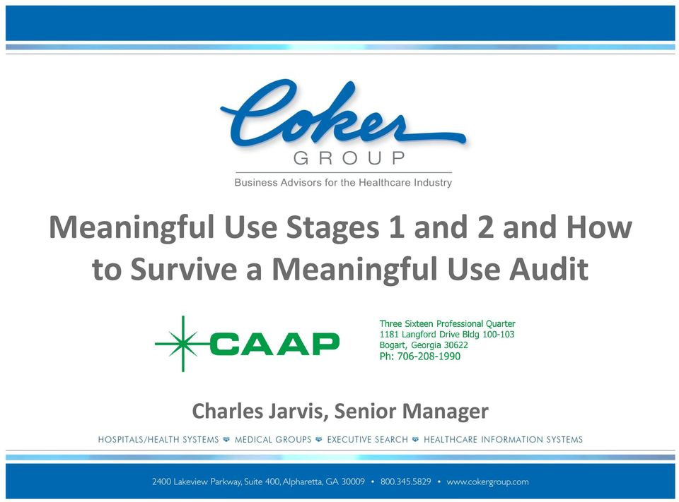 a Meaningful Use Audit