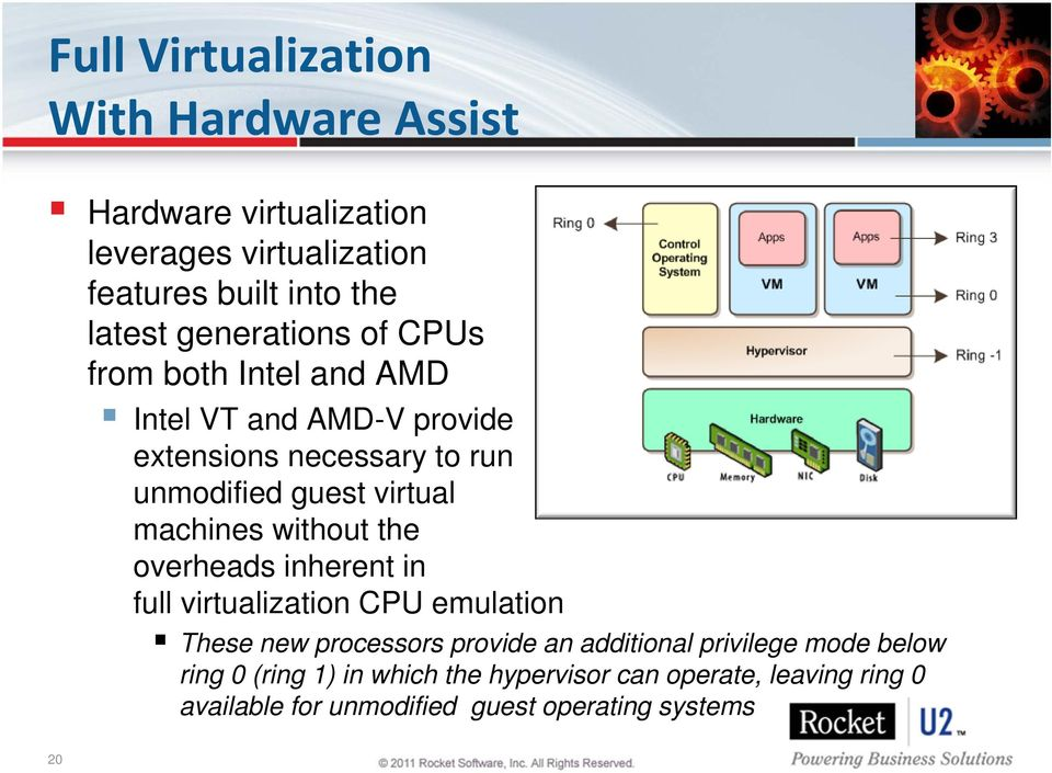 machines without the overheads inherent in full virtualization CPU emulation These new processors provide an additional
