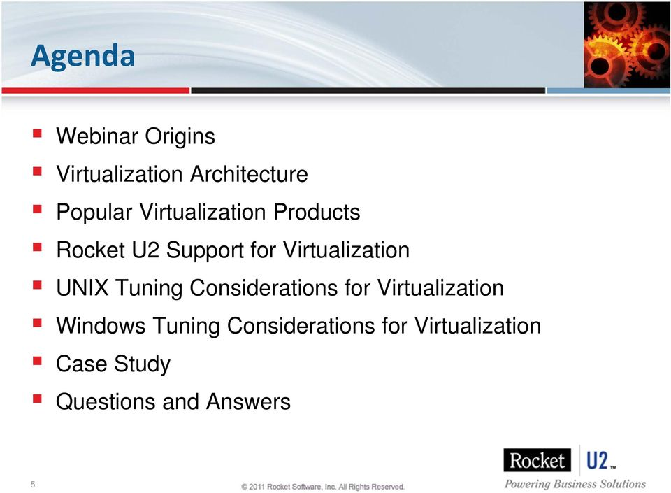 UNIX Tuning Considerations for Virtualization Windows Tuning