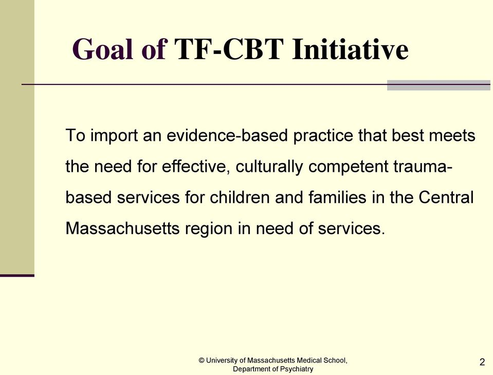 culturally competent traumabased services for children