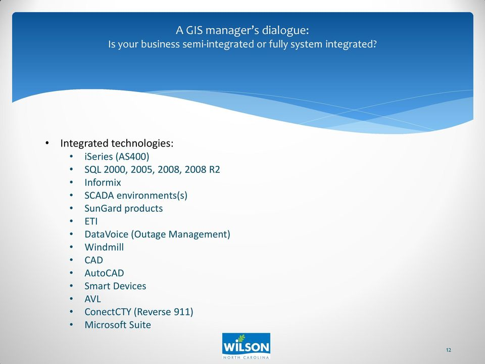 products ETI DataVoice (Outage Management) Windmill CAD