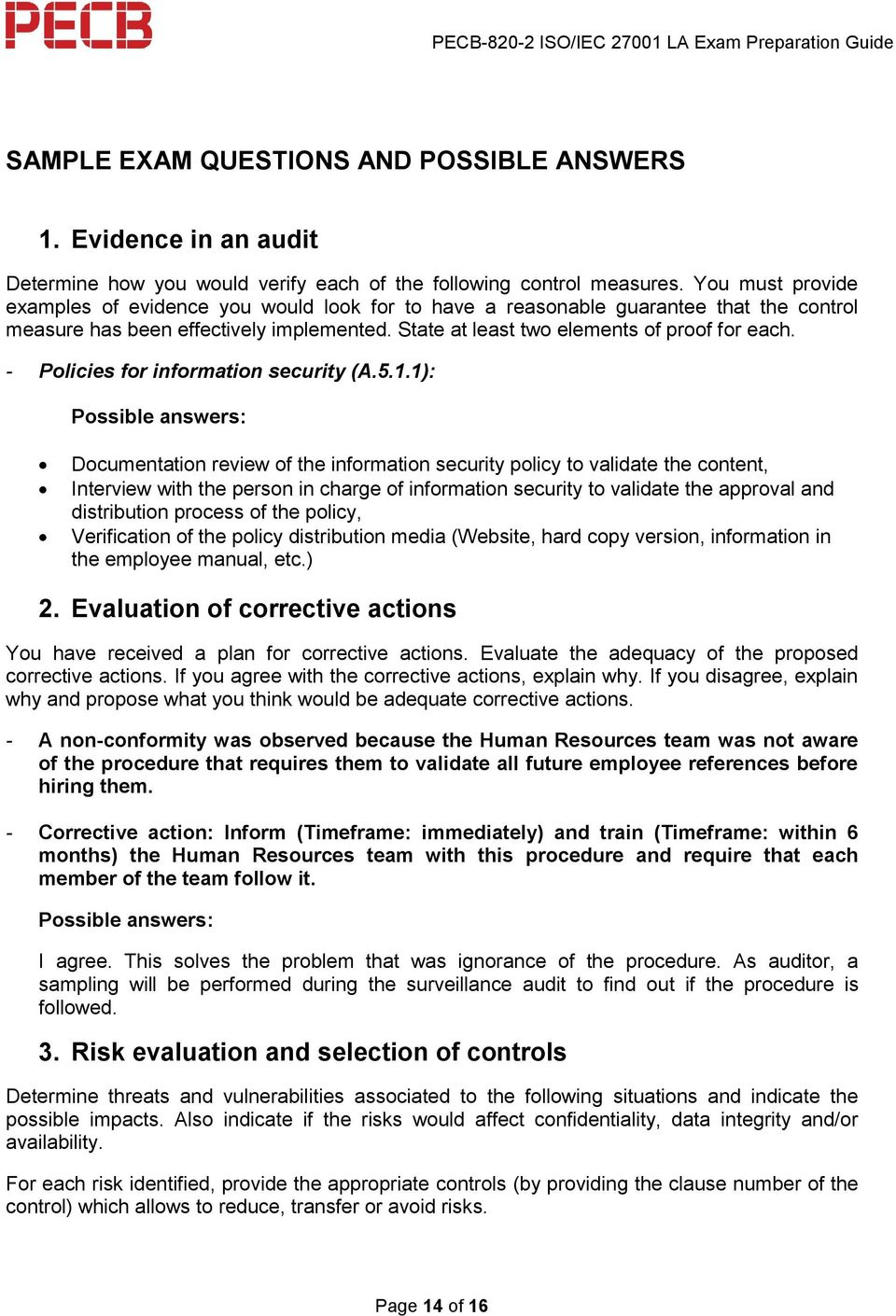 iso 22000 lead auditor sample questions