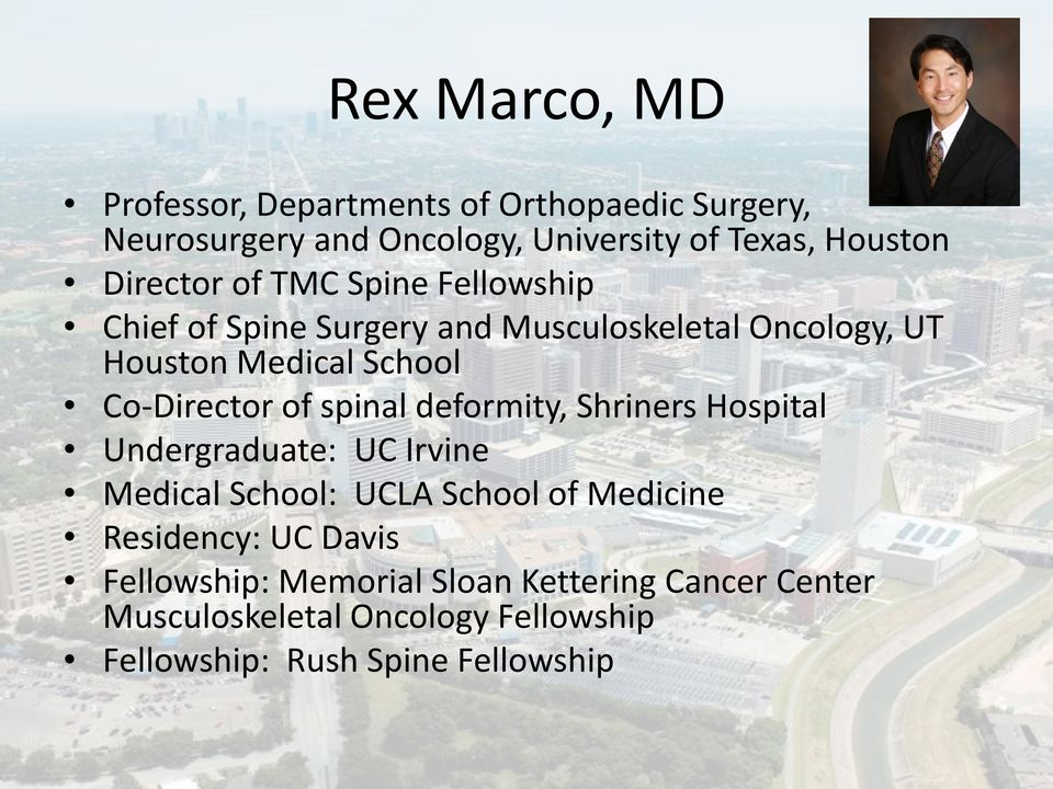 Texas Medical Center Spine Fellowship - PDF