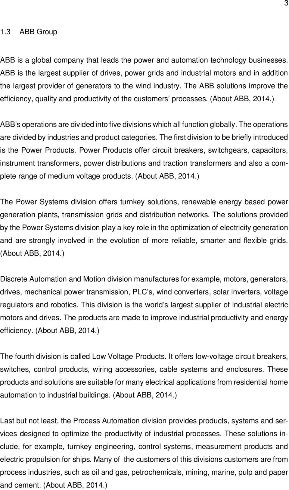 Purchasing Lead Time Reduction Case Abb Oy Drives Pdf Control Gt Power Supply Circuit Breakers Generators For Automation The Solutions Improve Efficiency Quality And Productivity Of Customers Processes