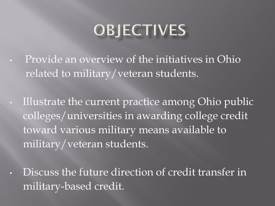 Illustrate the current practice among Ohio public colleges/universities in