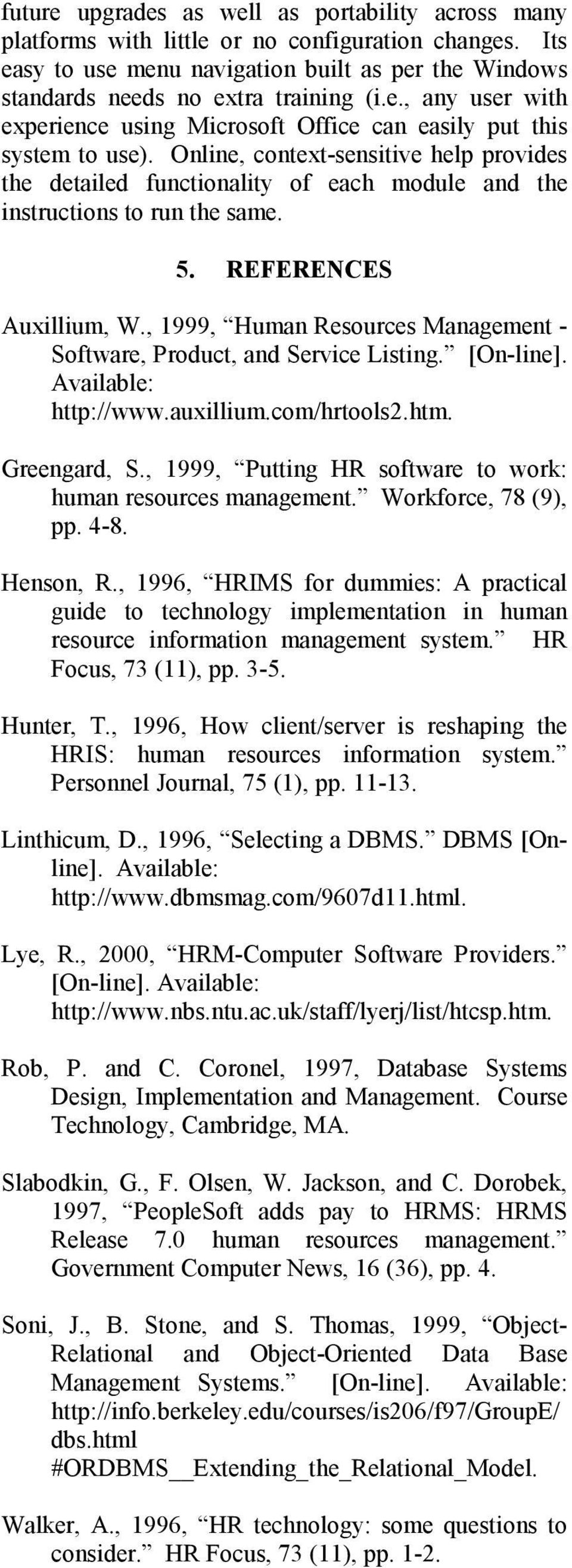 Development Of Essential Features For A Human Resource Management System Pdf Free Download