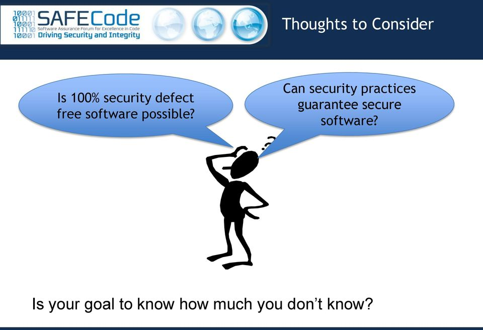 Can security practices guarantee secure