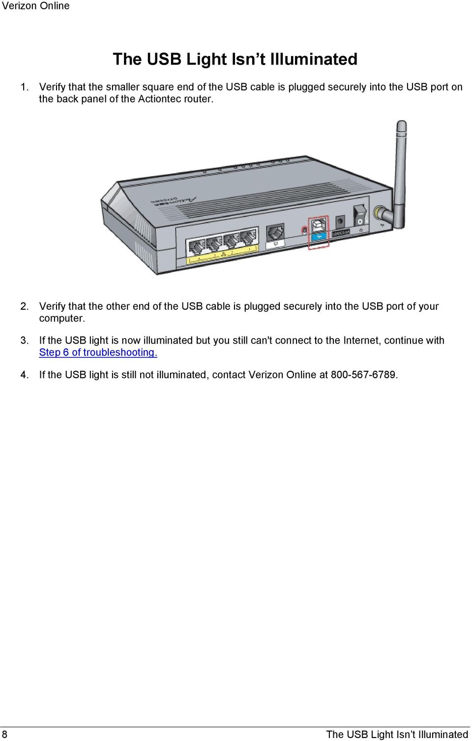 Actiontec Router Troubleshooting - PDF