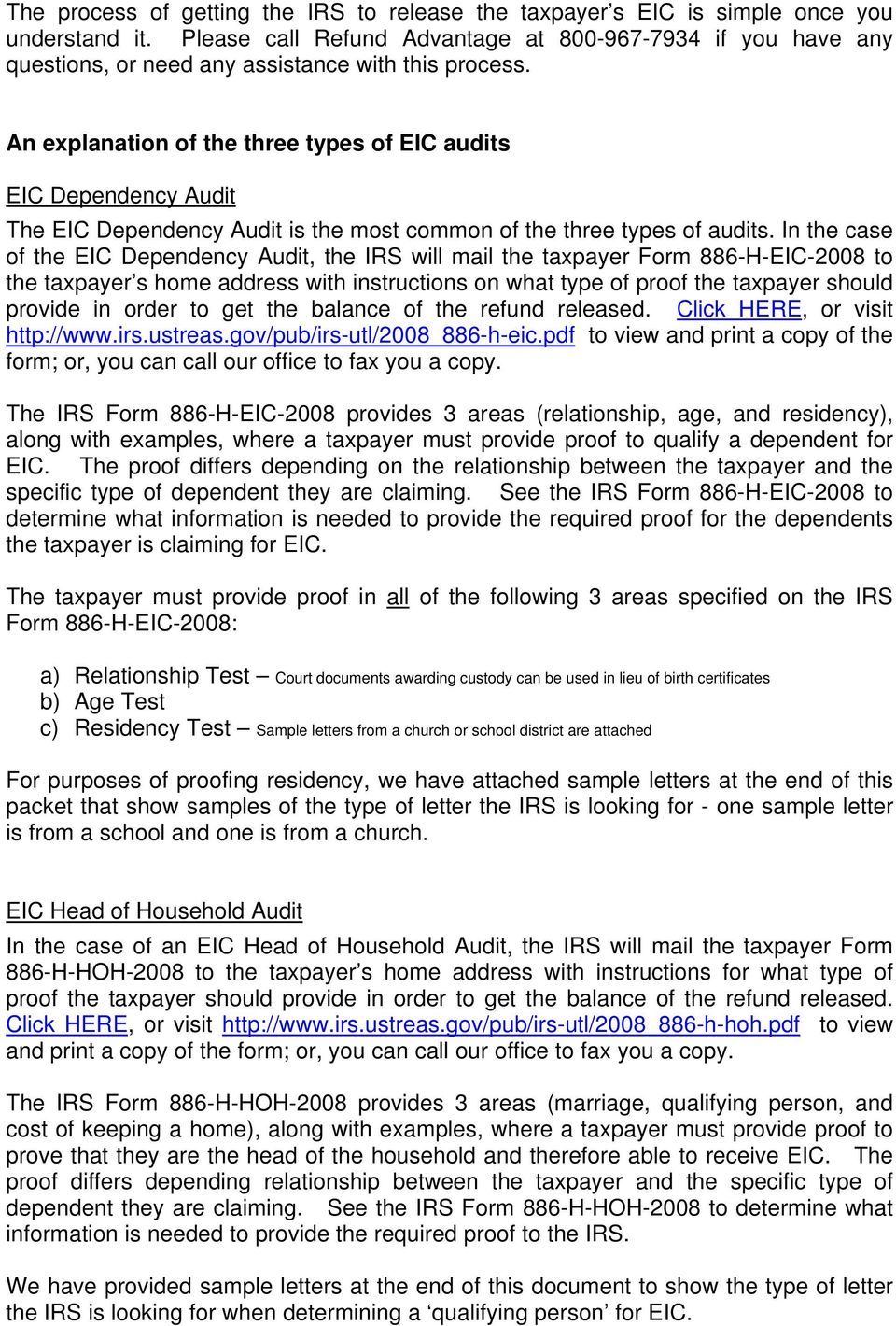 Eic Audit Resolution Packet Pdf