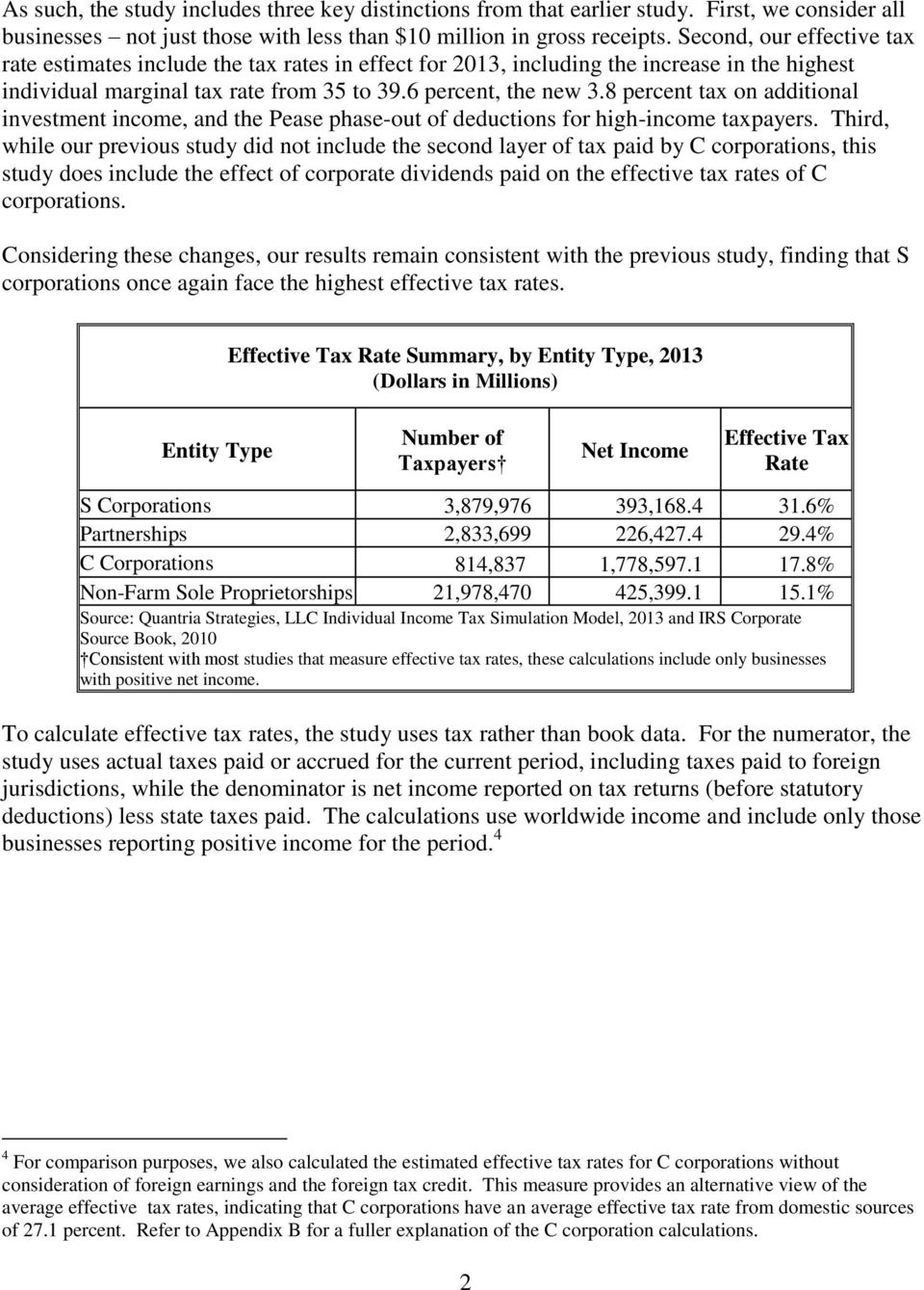 8 percent tax on additional investment income, and the Pease phase-out of deductions for high-income taxpayers.