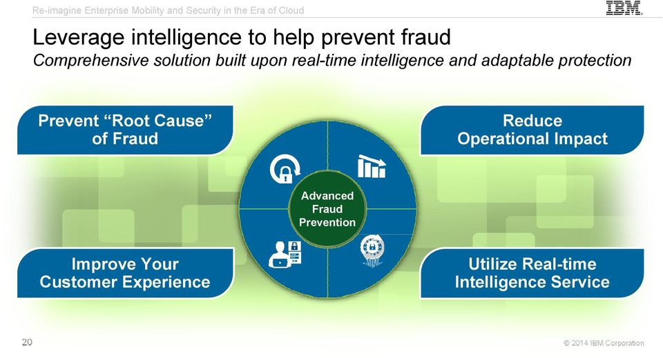 Root Cause of Fraud Reduce Operational Impact Advanced Fraud