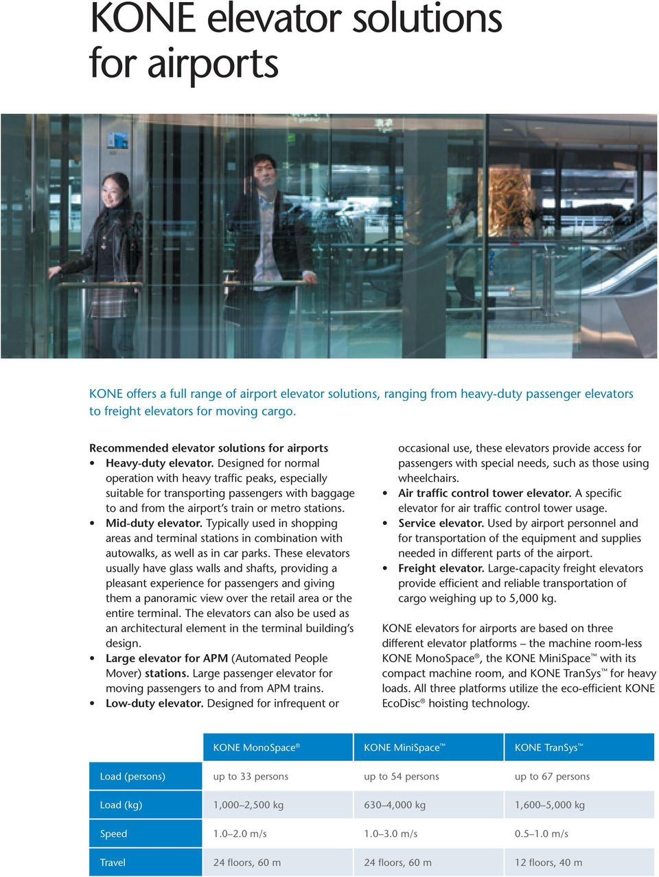 KONE solutions for airports - PDF