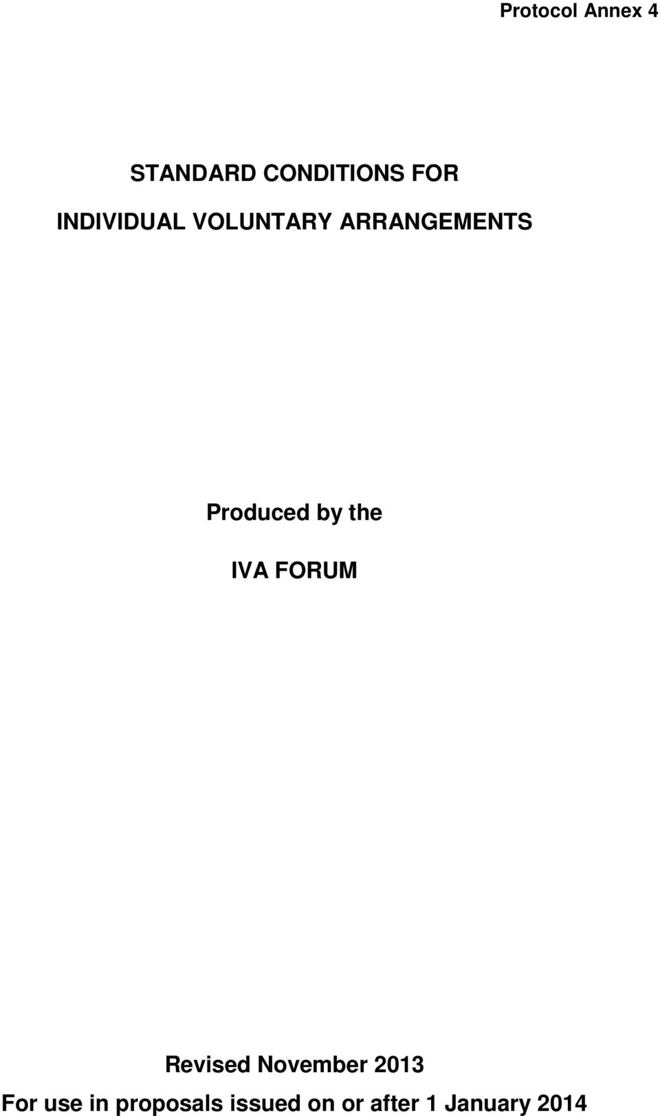 by the IVA FORUM Revised November 2013 For