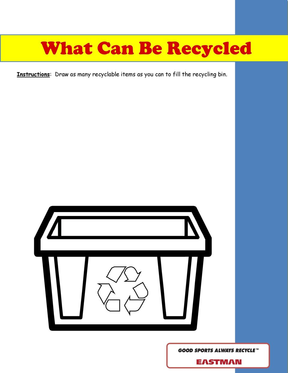 many recyclable items as