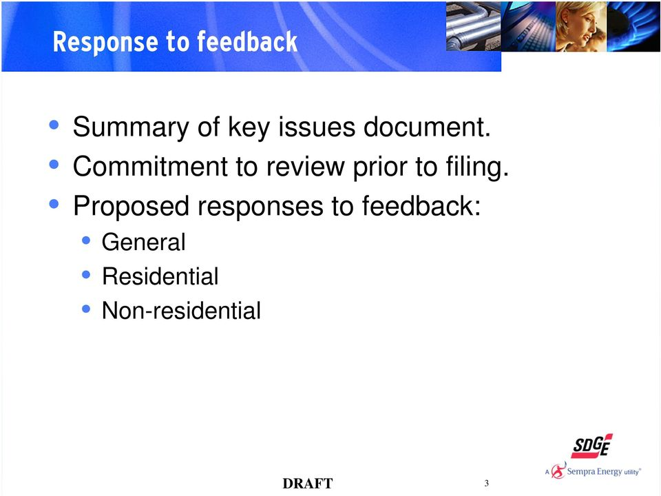 Commitment to review prior to filing.