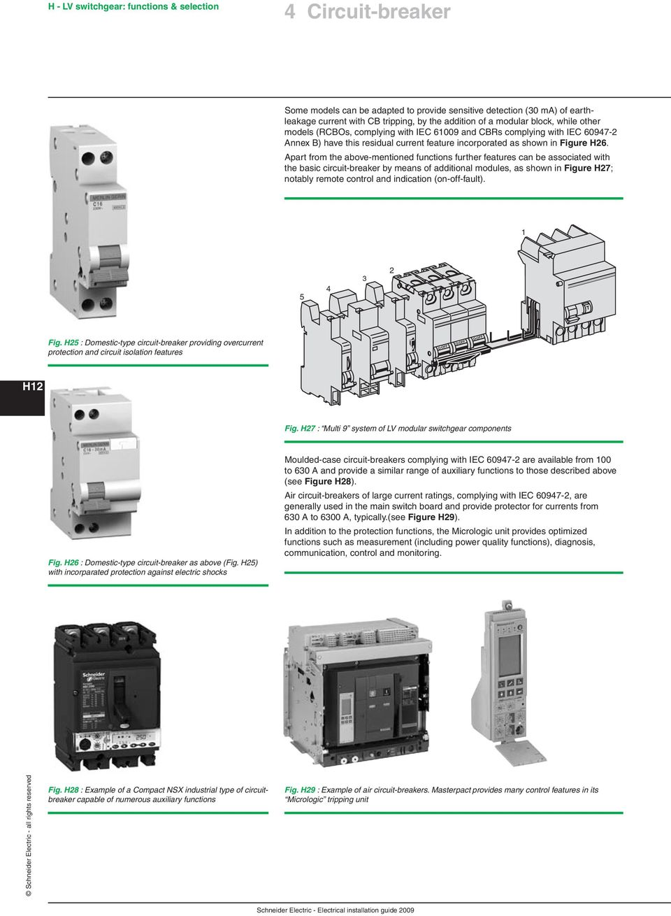 Chapter H Lv Switchgear Functions Selection Pdf Electric Shock Alarm Circuit1 Basiccircuit Circuit Diagram Apart From The Above Mentioned Further Features Can Be Associated With Basic