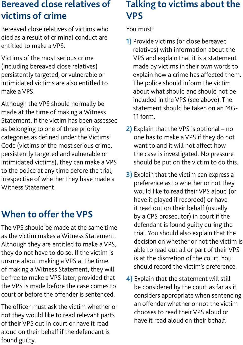 victim personal statement (vps) leaflet