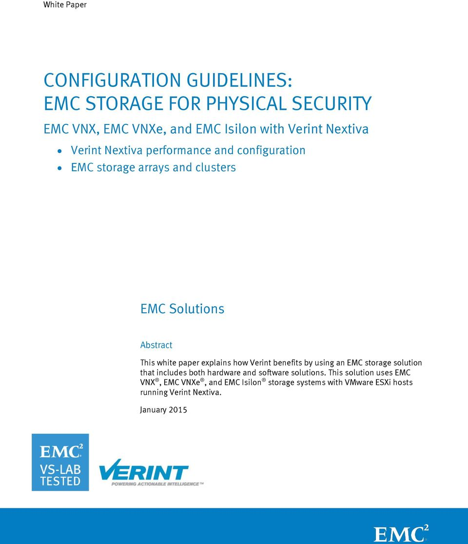 Array - configuration guidelines  emc storage for physical security      rh   docplayer net