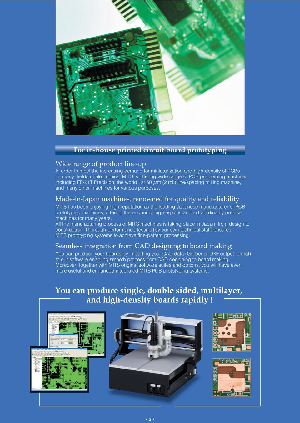 Printed Circuit Board Prototyping System Pdf How To Make Your Own Boards The Easy Way Made In Japan Machines Renowned For Quality And Reliability Mits Has Been Enjoying