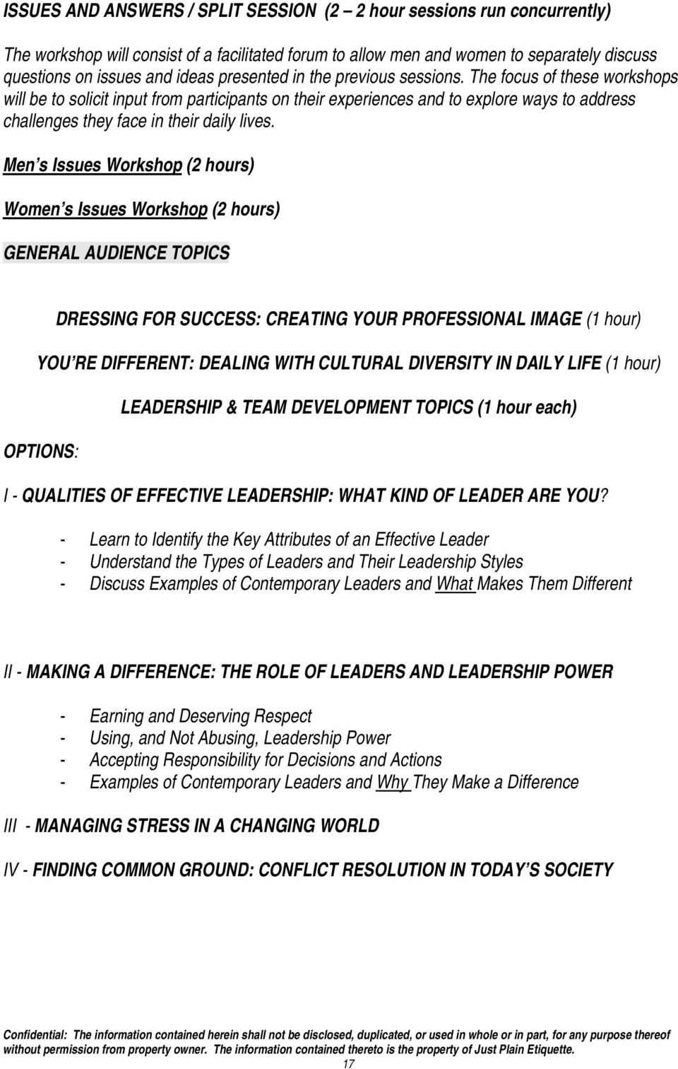 Business Etiquette  Business and Social Manners  Leadership