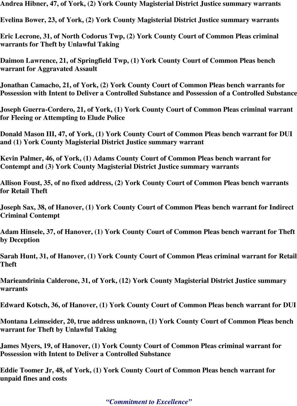 Sheriff's Office of York County - PDF