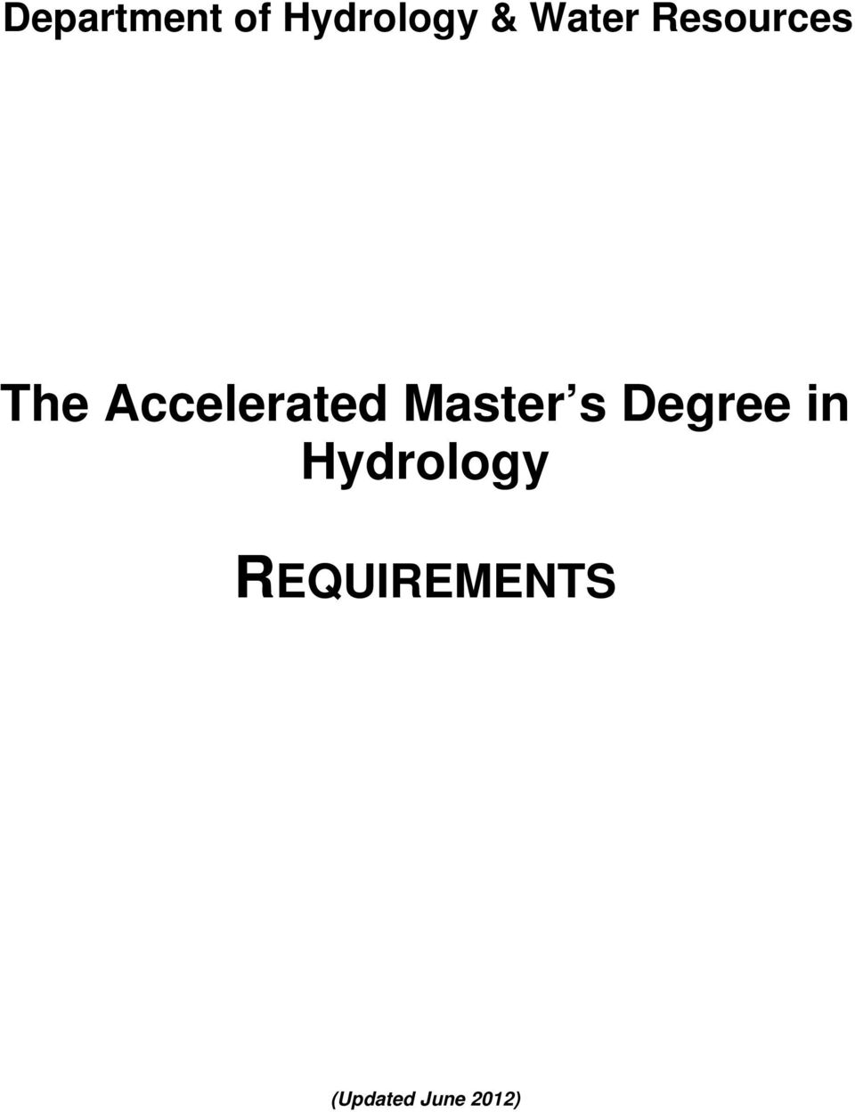 Accelerated Master s Degree