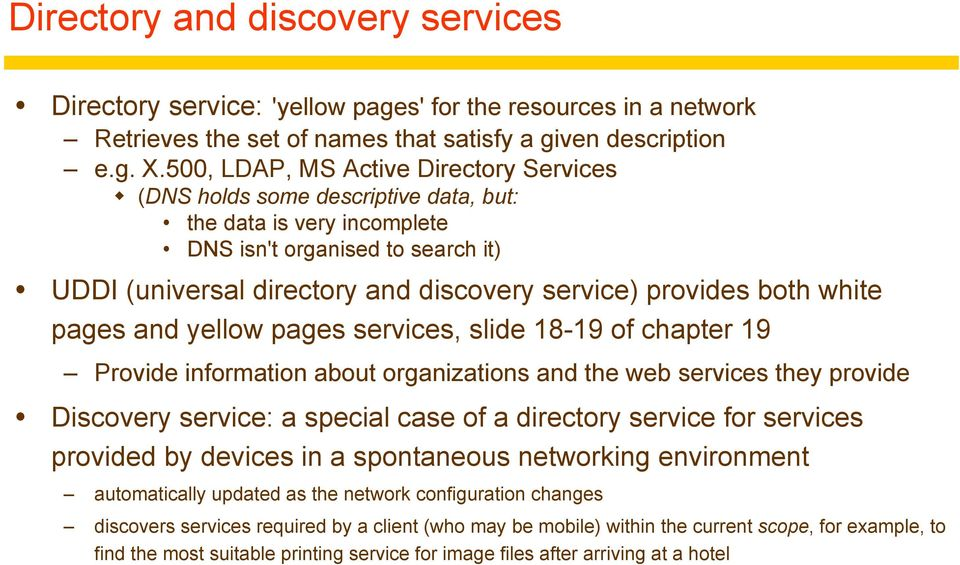 Chapter 9: Name Services  9 1 Introduction 9 2 Name services