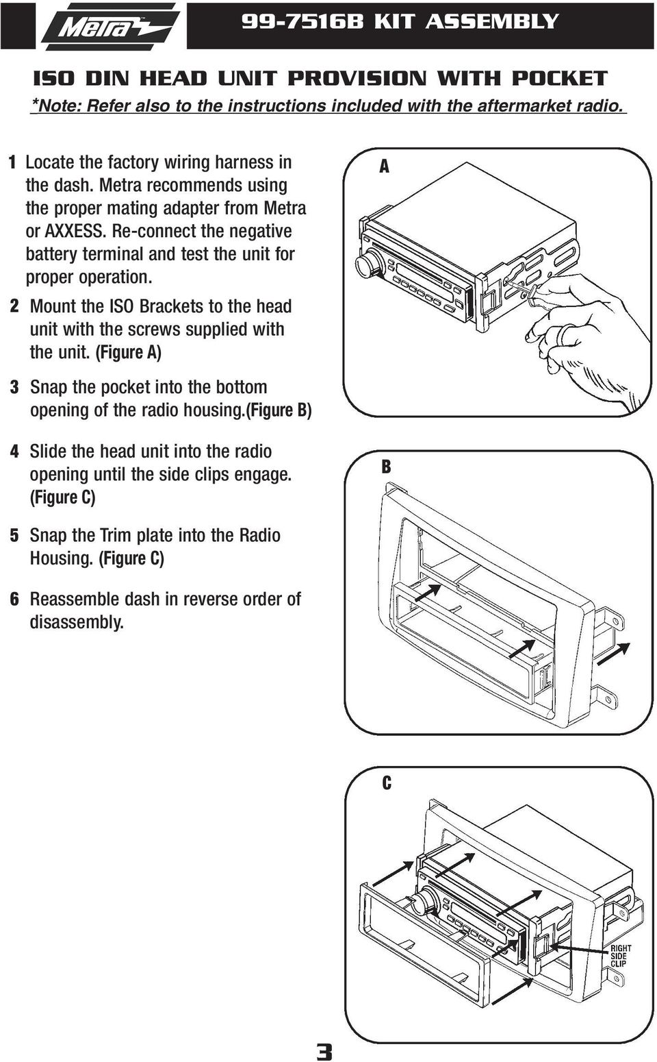 Installation Instructions For Part B Applications Mazda Cx Pdf Wiring Harness After Market Stereos Page 3 Re Connect The Negative Battery Terminal And Test Unit Proper Operation 2