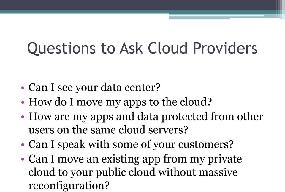 How are my apps and data protected from other users on the same cloud servers?