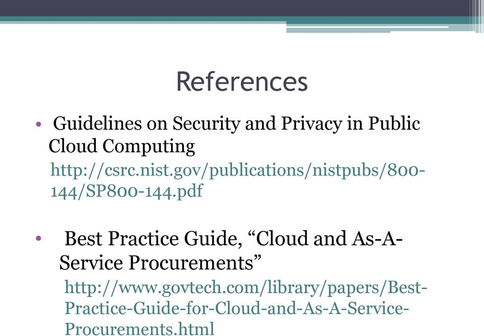 pdf Best Practice Guide, Cloud and As-A- Service Procurements http://www.