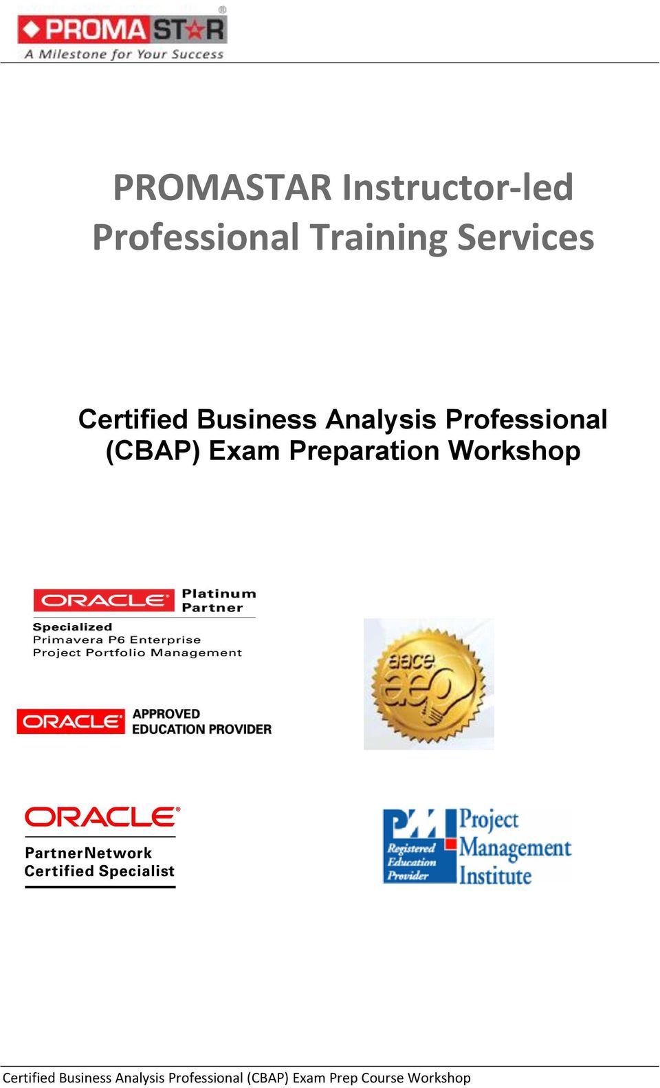 Promastar Instructor Led Professional Training Services Certified